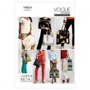 Vogue Easy Accessories Sewing Pattern 8823 Totes & Hand Bags