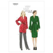 Vogue Ladies Easy Sewing Pattern 8825 Tunic Top, Dress & Pants