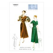 Vogue Ladies Sewing Pattern 8850 Vintage Style Dresses & Belt