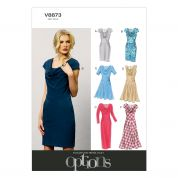 Vogue Ladies Easy Sewing Pattern 8873 Cowl Neck Dresses