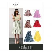 Vogue Ladies Easy Sewing Pattern 8882 Flared Skirts