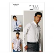 Vogue Mens Sewing Pattern 8889 Long & Short Sleeve Shirts