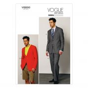 Vogue Mens Sewing Pattern 8890 Jacket, Shorts, & Pants Suit
