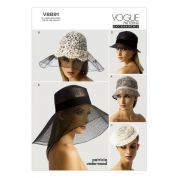 Vogue Ladies Accessories Sewing Pattern 8891 Hats & Headwear