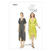 Vogue Ladies Easy Sewing Pattern 8894 Dresses with Cup Sizes