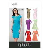 Vogue Ladies Easy Sewing Pattern 8902 Fitted Dresses with Cup Sizes