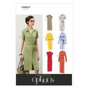 Vogue Ladies Easy Sewing Pattern 8903 Shirt Dresses & Belt