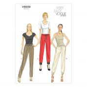 Vogue Ladies Easy Sewing Pattern 8909 Casual Drawstring Pants