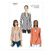 Vogue Ladies Easy Sewing Pattern 8910 Bias Lined Jackets