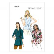 Vogue Ladies Easy Sewing Pattern 8926 Wrap Tops