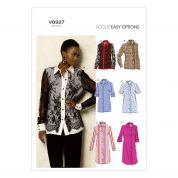 Vogue Ladies Easy Sewing Pattern 8927 Shirt Blouse Tops