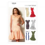 Vogue Ladies Easy Sewing Pattern 8948 Straight & Ruffle Dresses