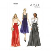 Vogue Ladies Easy Sewing Pattern 8955 Wide Leg Pleated Trousers