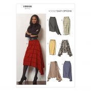 Vogue Ladies Easy Sewing Pattern 8956 Asymmetric & Straight Skirts