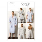 Vogue Men's Easy Sewing Pattern 8964 Pyjamas & Dressing Gown