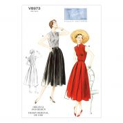 Vogue Ladies Sewing Pattern 8973 Vintage Style Dresses & Belt