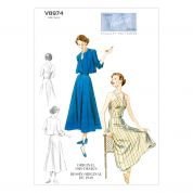 Vogue Ladies Sewing Pattern 8974 Vintage Style Jacket, Dress & Belt