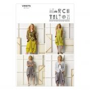 Vogue Ladies Sewing Pattern 8975 Slouchy Jacket & Dresses