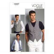 Vogue Mens Sewing Pattern 8987 Smart Waistcoats