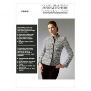 Vogue Ladies Sewing Pattern 8991 Quilted Fitted Jacket