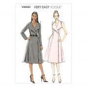 Vogue Ladies Sewing Pattern 8992 Lined Wrap Dress