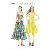 Vogue Ladies Easy Sewing Pattern 8996 Dresses with Pockets