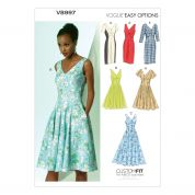 Vogue Ladies Easy Sewing Pattern 8997 Dresses with Cup Sizes