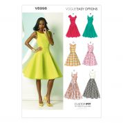 Vogue Ladies Easy Sewing Pattern 8998 Full Dresses with Cup Sizes