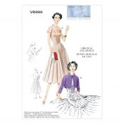 Vogue Ladies Sewing Pattern 8999 Vintage Style Dress & Bolero