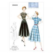 Vogue Ladies Sewing Pattern 9000 Vintage Style Dresses & Belt