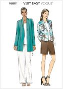 Vogue Ladies Easy Sewing Pattern 9011 Jackets, Shorts & Pants