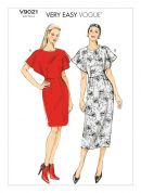Vogue Ladies Easy Sewing Pattern 9021 Fitted Dress