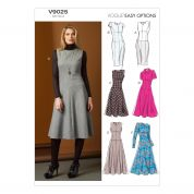 Vogue Ladies Easy Sewing Pattern 9025 Dropped Waist Dresses