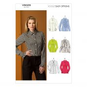 Vogue Ladies Easy Sewing Pattern 9029 Smart Fitted Blouse Tops