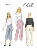 Vogue Ladies Easy Sewing Pattern 9032 Below Waist Trouser Pants