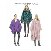 Vogue Ladies Easy Sewing Pattern 9038 Loose Fitting Capes