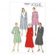 Vogue Ladies Sewing Pattern 9040 Lined Fitted & Flared Coats