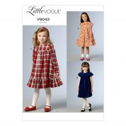 Vogue Girls Easy Sewing Pattern 9042 Pretty Dresses with Pleats & Ruffles