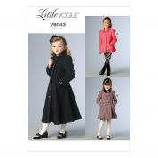 Vogue Girls Easy Sewing Pattern 9043 Coats & Jackets