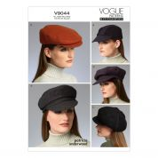 Vogue Ladies Sewing Pattern 9044 Hats in 5 Styles