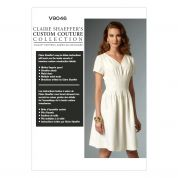 Vogue Ladies Sewing Pattern 9046 Dress with Shoulder Pleats