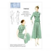 Vogue Ladies Sewing Pattern 9052 Vintage Style Jackets, Dress & Belt