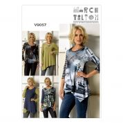 Vogue Ladies Easy Sewing Pattern 9057 Stretch Knit Tops in 5 Styles