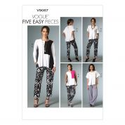 Vogue Ladies Easy Sewing Pattern 9067 Loose Fitting Tops & Pants