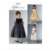 Vogue Girls Easy Sewing Pattern 9072 Pretty Party Dresses
