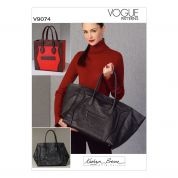Vogue Accessories Sewing Pattern 9074 Large Tote Bags