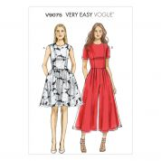 Vogue Ladies Easy Sewing Pattern 9075 Dress & Jumpsuit