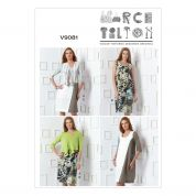 Vogue Ladies Easy Sewing Pattern 9081 Cardigan & Patchwork Dresses