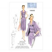 Vogue Ladies Sewing Pattern 9083 Vintage Style Jacket, Dress & Belt