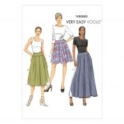 Vogue Ladies Easy Sewing Pattern 9090 Pleated Skirts